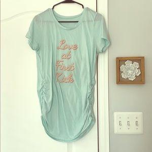 Light Blue Maternity T-Shirt